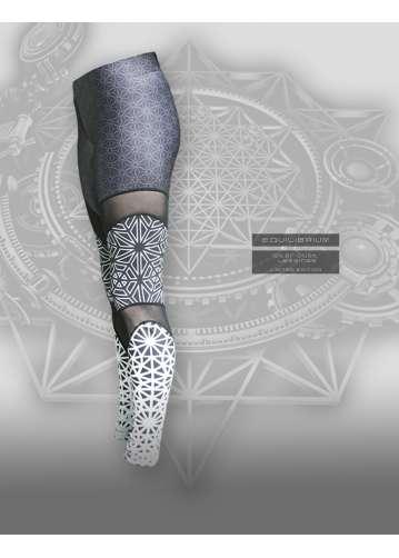 """""""star dust"""" women's designed leggings / sacred geometry"""