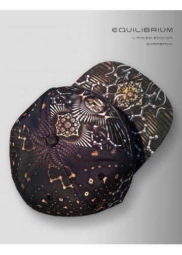 """""""illusion"""" psychedelic snapback with skull print"""