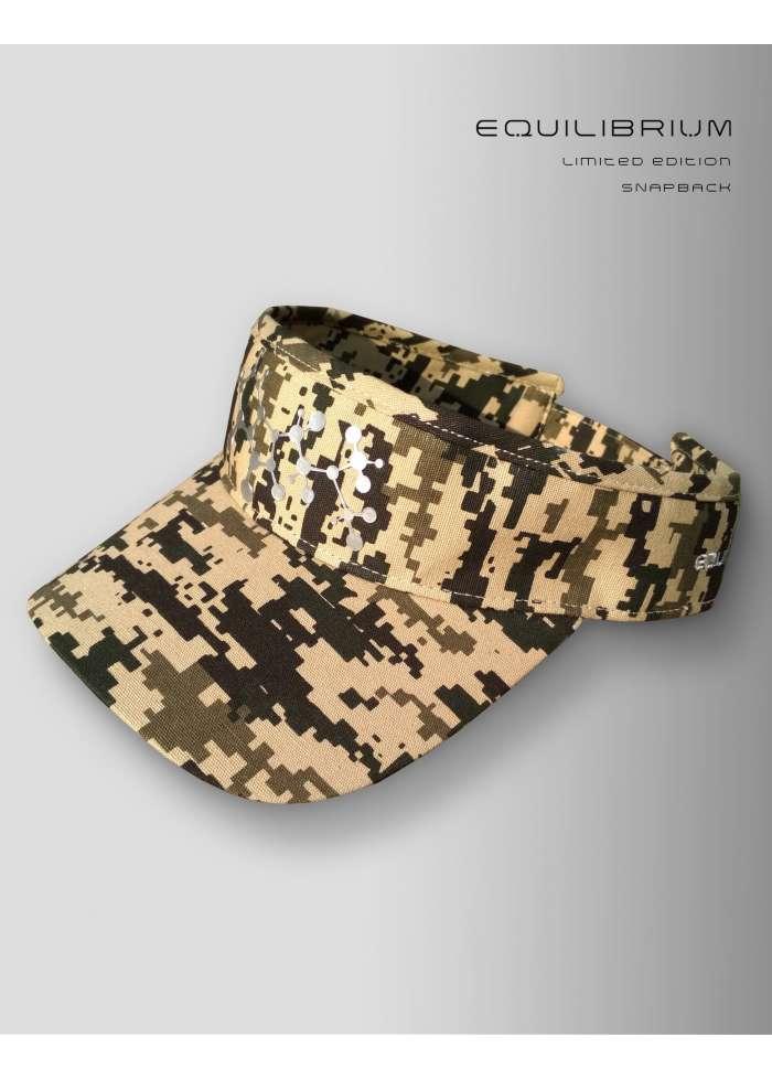 """""""camo molecular"""" visor cap / dreadlock cap"""
