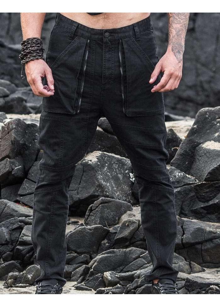 """singularity light"" men's cyberpunk trousers"