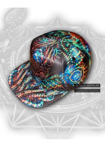 """""""biomechanic"""" psychedelic snapback"""