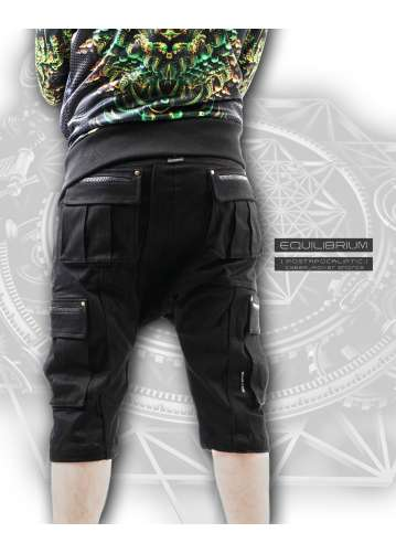 """""""cyber_rover"""" men's cyberpunk shorts with pockets"""