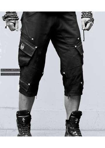 """multidimensional biker"" men's cyberpunk 3/4 shorts"