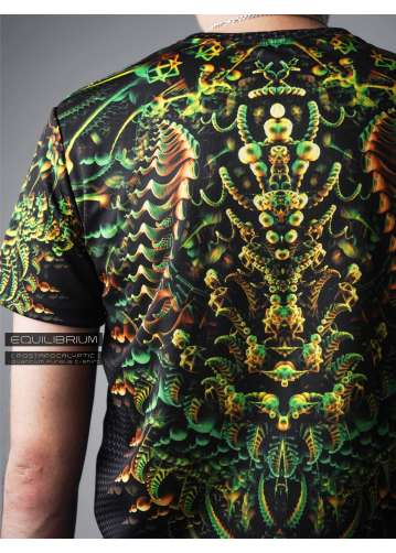 """quantum fungus"" men's psychedelic t-shirt"