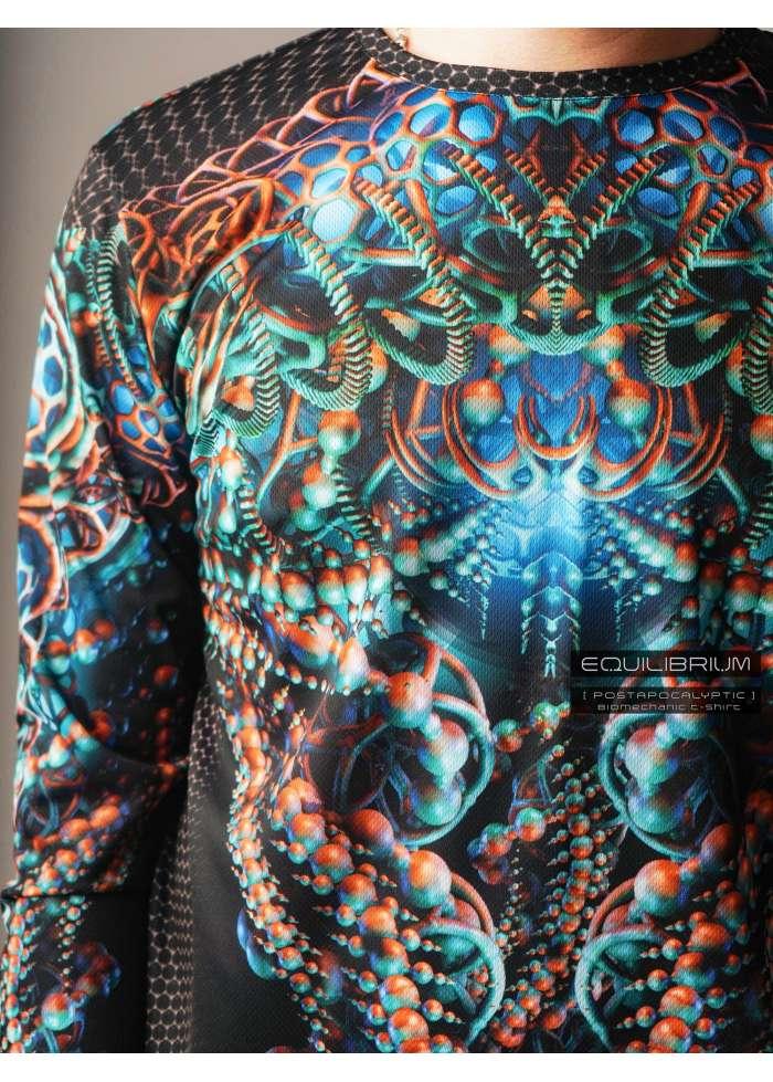 """biomechanic"" men's cyberpunk t-shirt"