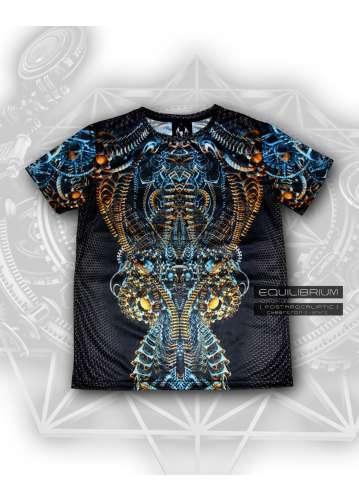 """cybertron"" men's cyberpunk biomech t-shirt"
