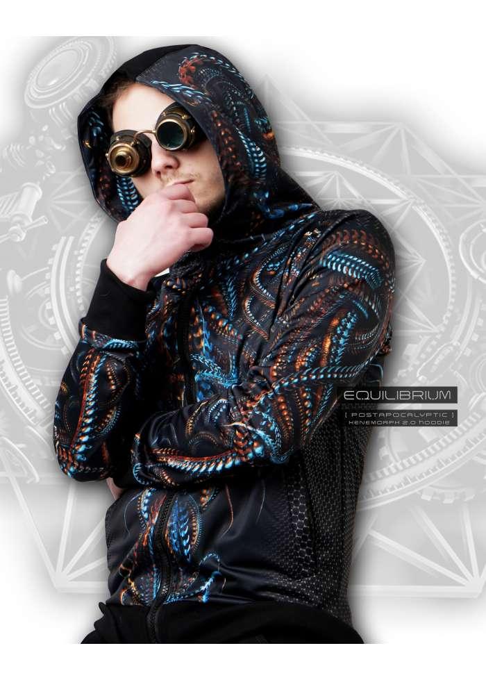 """""""xenomorph 2.0"""" men's cyberpunk biomech hoodie"""