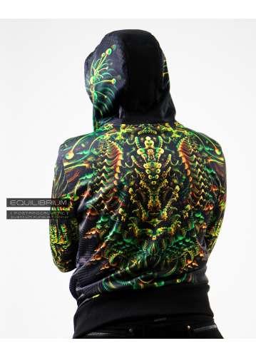 """quantum fungus"" men's psychedelic hoodie"