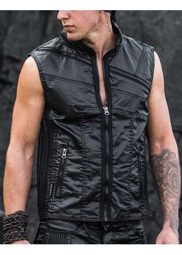 """vector"" men's sleeveless cyberpunk jacket"