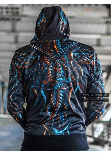 """""""xenomorph"""" men's cyberpunk hoodie"""