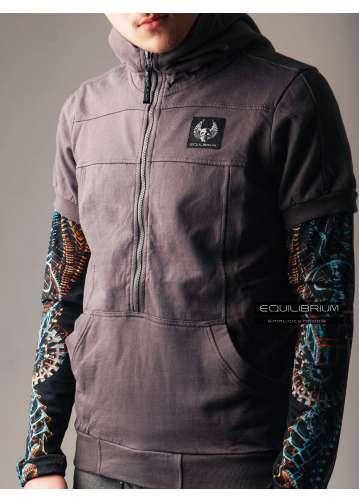 """simplicity"" men's hoodie with skull print"