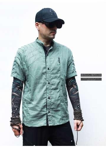 """""""jedi_shirt green"""" men's cyberpunk shirt"""