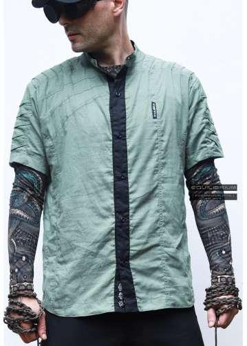 """""""jedi_shirt green 2.0"""" мужская дизайнерская рубашка"""