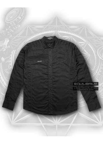 """cyberdroid black"" men's futuristic  cyberpunk shirt"