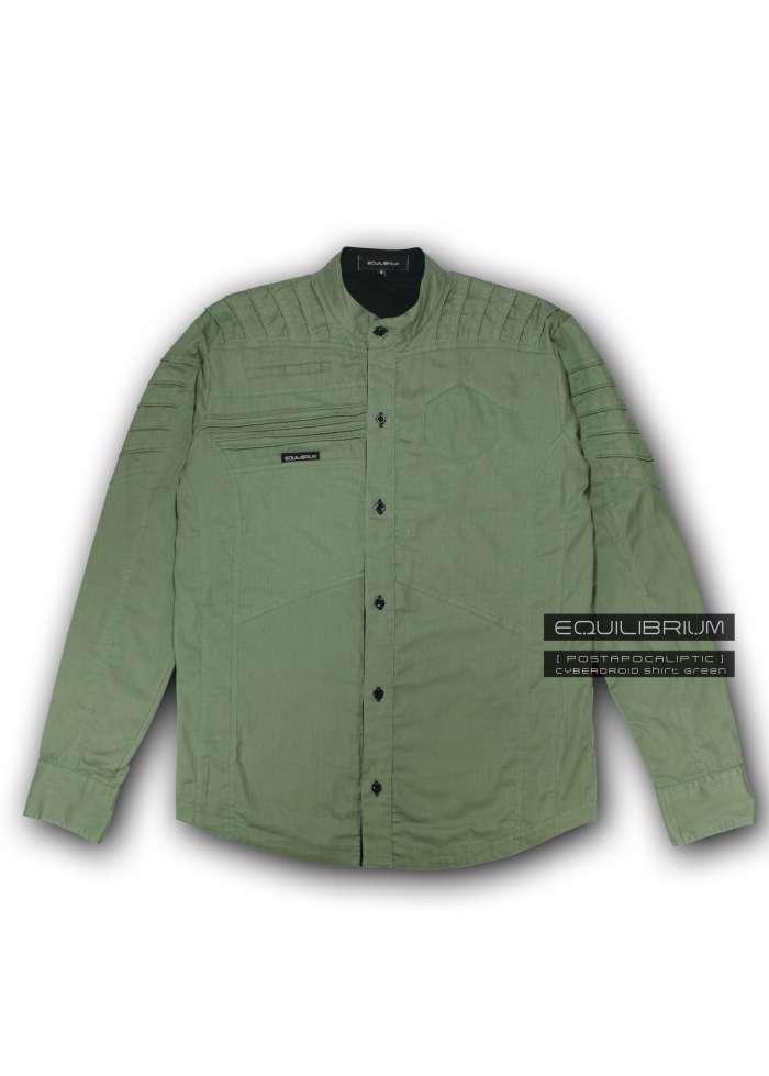 """cyberdroid green"" мужская киберпанк рубашка"