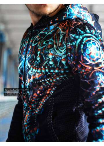 """biomechanic"" men's cyberpunk hoodie"