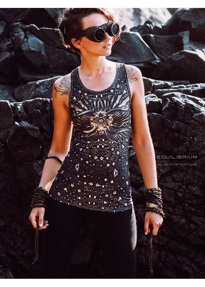 """""""sacred illusion"""" women's all over printed top tank"""