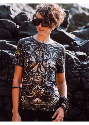 """""""illusion structure"""" women's t-shirt with print"""
